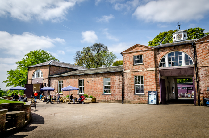 A photo of the stable block at Heaton Park