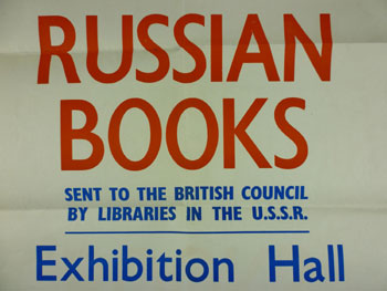 Poster for the Russian Books exhibition, 1944 M740/11/2/46