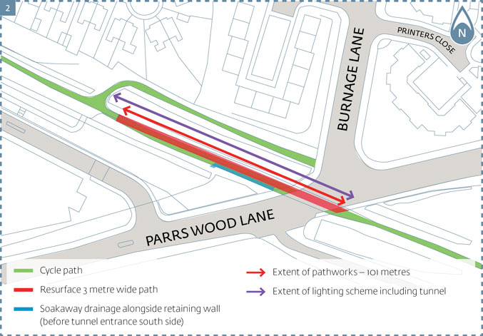 east didsbury cycle link inset 2
