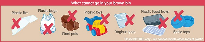 Things that can not go in your brown bin