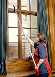 Keep windows clean. . .